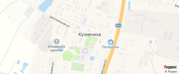 4-й Дачный переулок на карте деревни Кузнечиха (Кузнечихинский с.О.) Ярославская области с номерами домов