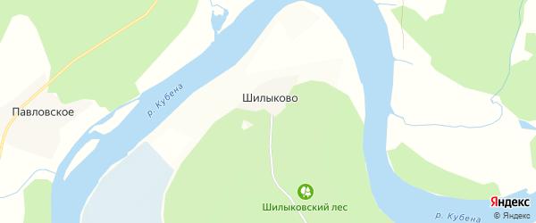 Карта деревни Шилыково в Вологодской области с улицами и номерами домов