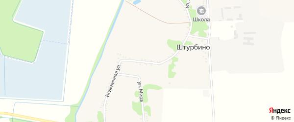 Больничная улица на карте села Штурбино с номерами домов