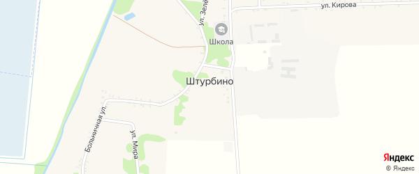 Дорога А/Д Гиагинская-Штурбино на карте села Штурбино Адыгеи с номерами домов