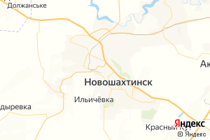 Карта г. Новошахтинск Ростовская область