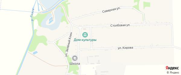 Переулок Козлова на карте села Штурбино Адыгеи с номерами домов