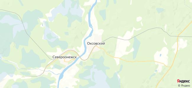 Оксовский на карте