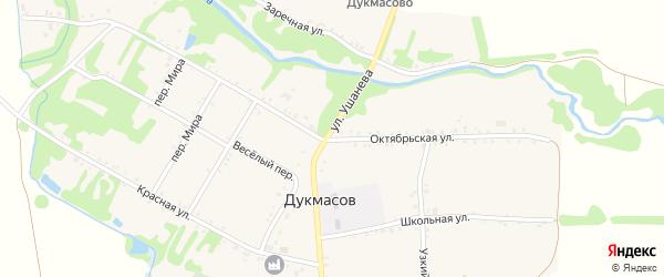 Октябрьская улица на карте хутора Дукмасов Адыгеи с номерами домов
