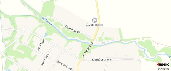 Заречная улица на карте хутора Дукмасов Адыгеи с номерами домов