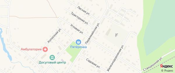 Угловая улица на карте Оксовский поселка с номерами домов