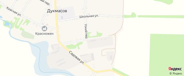 Восточная улица на карте хутора Дукмасов Адыгеи с номерами домов