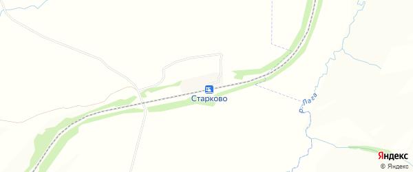 Карта станции Старково в Владимирской области с улицами и номерами домов