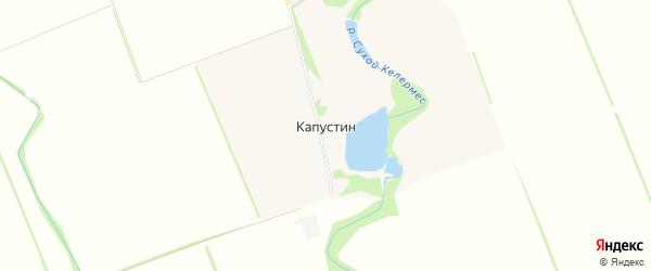 Карта хутора Капустина в Краснодарском крае с улицами и номерами домов