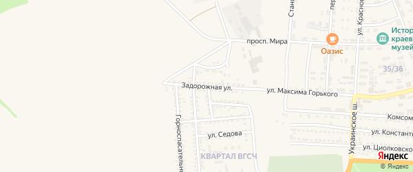 Задорожная улица на карте Донецка с номерами домов