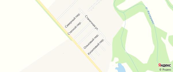 Фермерский переулок на карте Ханской станицы с номерами домов