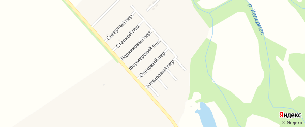Ольховый переулок на карте Ханской станицы с номерами домов