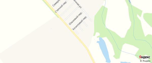 Короткий переулок на карте Ханской станицы с номерами домов