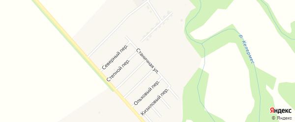 Станичная улица на карте Ханской станицы с номерами домов