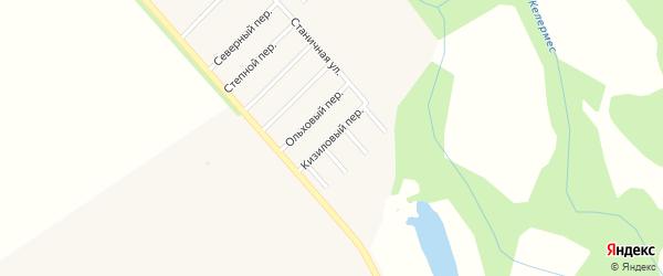 Кизиловый переулок на карте Ханской станицы с номерами домов