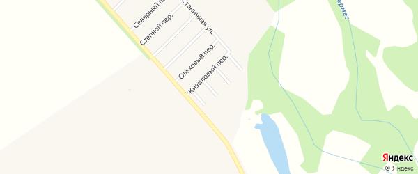 Полевой переулок на карте Ханской станицы с номерами домов
