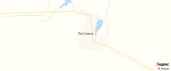 Карта деревни Ростовки в Липецкой области с улицами и номерами домов