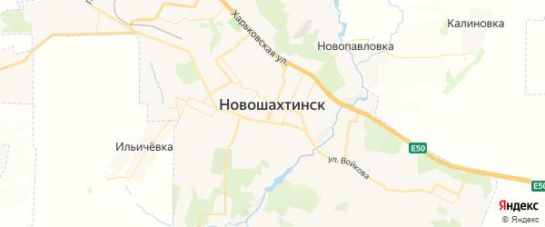 Карта Новошахтинска с районами, улицами и номерами домов
