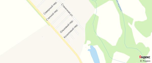 Луговой переулок на карте Ханской станицы с номерами домов