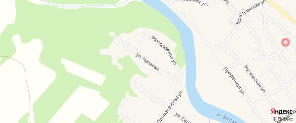 Улица Чапаева на карте Веселого хутора с номерами домов