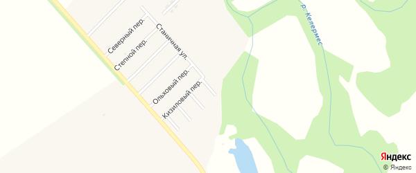 Прудовый переулок на карте Ханской станицы с номерами домов