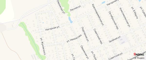 Овражная улица на карте Лакинска с номерами домов