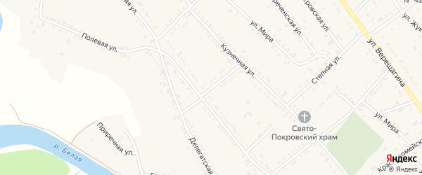 Улица Чкалова на карте Ханской станицы с номерами домов