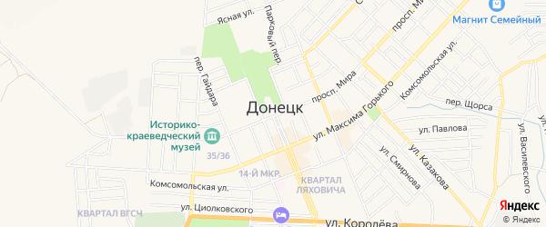 Карта садового некоммерческого товарищества Пульса-1 города Донецка в Ростовской области с улицами и номерами домов