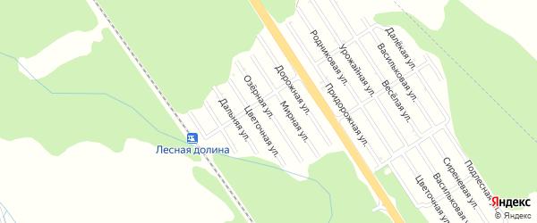 Озерная улица на карте Лесной сказки с номерами домов