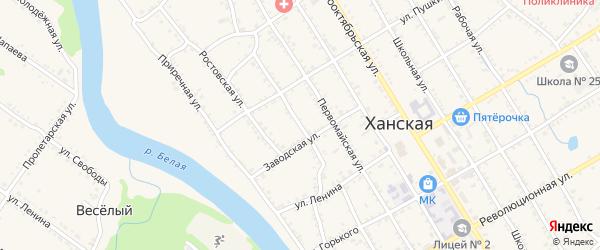 Батарейная улица на карте Ханской станицы с номерами домов