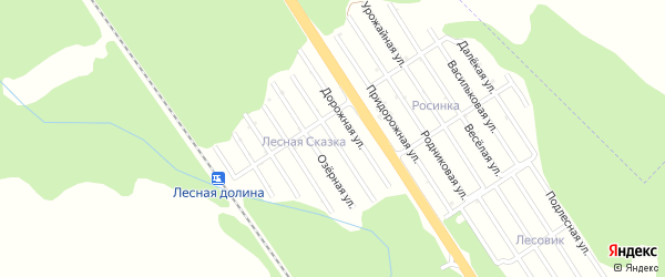 Мирная улица на карте Лесной сказки с номерами домов