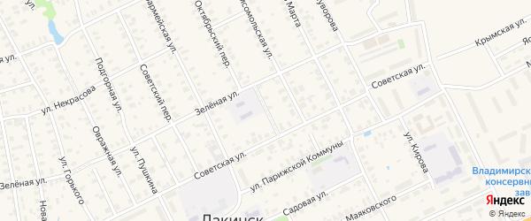 Комсомольский переулок на карте Лакинска с номерами домов