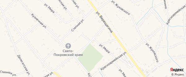 Улица Мира на карте Ханской станицы с номерами домов