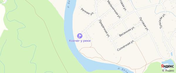 Кустарная улица на карте Ханской станицы с номерами домов