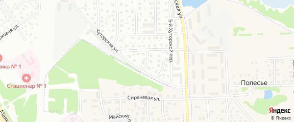 1-й Кузьминский переулок на карте Ярославля с номерами домов