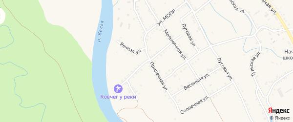 Огородная улица на карте Ханской станицы с номерами домов
