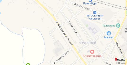 Улица Ф.Энгельса в Чаплыгине с номерами домов на карте. Спутник и схема онлайн