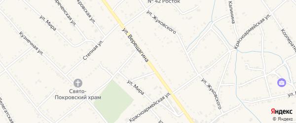 Дорога А/Д Ханская-Белореченск на карте Ханской станицы с номерами домов