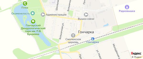 Садовая улица на карте поселка Гончарки Адыгеи с номерами домов