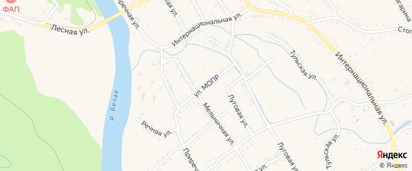 Улица МОПР на карте Ханской станицы с номерами домов