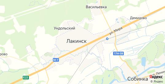 Карта Лакинска с улицами и домами подробная. Показать со спутника номера домов онлайн