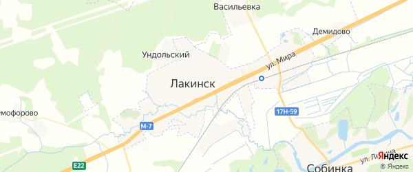 Карта Лакинска с районами, улицами и номерами домов