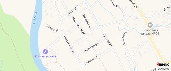 Мельничная улица на карте Ханской станицы с номерами домов