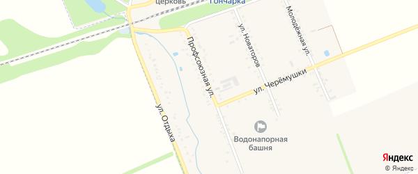 Профсоюзная улица на карте поселка Гончарки Адыгеи с номерами домов