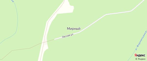 Дорога А/Д Подъезд к п. Мирный на карте Мирного поселка Адыгеи с номерами домов