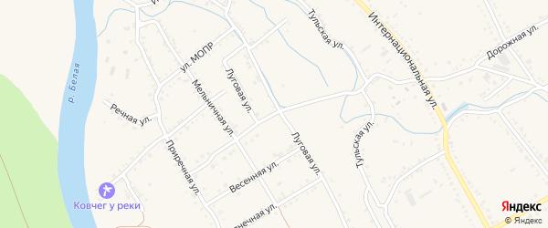 Новая Дорожная улица на карте Ханской станицы с номерами домов