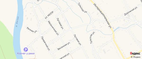 Новая Луговая улица на карте Ханской станицы с номерами домов