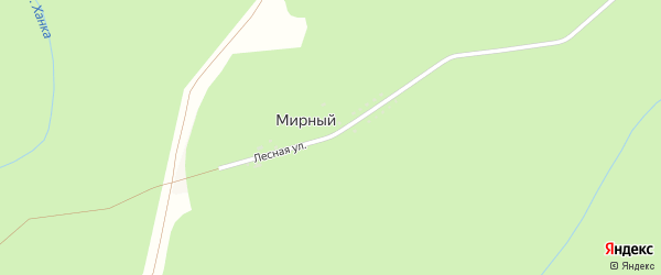 Лесная улица на карте Мирного поселка Адыгеи с номерами домов