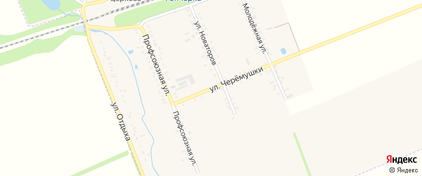 Улица Черемушки на карте поселка Гончарки Адыгеи с номерами домов