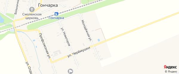 Молодежная улица на карте поселка Гончарки Адыгеи с номерами домов